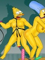 Marge Simpson sucking Homer's dick in - Picture 2