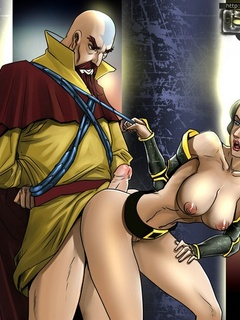 Bald cartoon man fucking hard hot girl in awesome - Picture 2