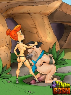 Fred Flintstone with his hands bound - BDSM Art Collection - Pic 1