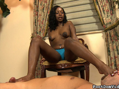Ebony curly babe in blue panties - Sexy Women in Lingerie - Picture 11