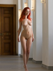 Magnificent red girl with sexy body posing - XXX Dessert - Picture 1