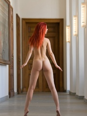 Magnificent red girl with sexy body posing - XXX Dessert - Picture 5