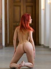 Magnificent red girl with sexy body posing - XXX Dessert - Picture 6
