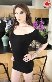 tattooed long-hared tranny sexy