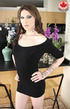 Tattooed long-hared tranny in a sexy black dress…