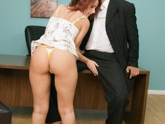 Nasty red slut gets her cooch stuffed with - XXX Dessert - Picture 12