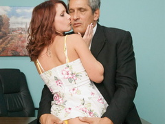 Nasty red slut gets her cooch stuffed with - XXX Dessert - Picture 13