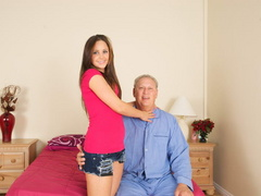Lustful old fart slides his thick boner - XXX Dessert - Picture 1