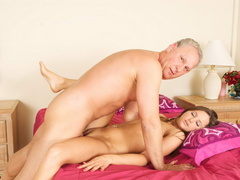Lustful old fart slides his thick boner - XXX Dessert - Picture 4