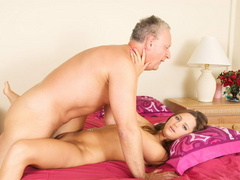 Lustful old fart slides his thick boner - XXX Dessert - Picture 6