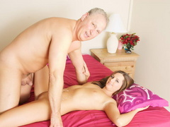 Lustful old fart slides his thick boner - XXX Dessert - Picture 10
