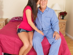 Lustful old fart slides his thick boner - XXX Dessert - Picture 11