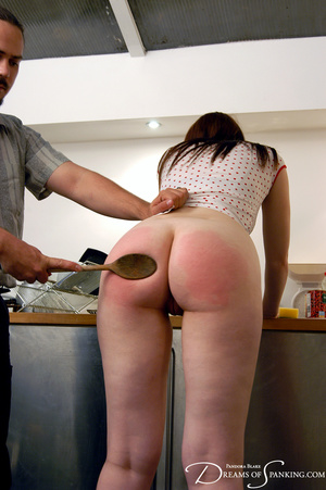 Ponytailed dude spanking a red chick wit - XXX Dessert - Picture 12