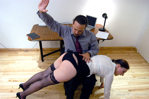 Hot secretary in glasses and stockings g - XXX Dessert - Picture 3