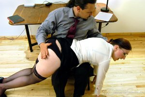 Hot secretary in glasses and stockings g - XXX Dessert - Picture 4