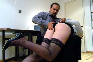 Hot secretary in glasses and stockings g - XXX Dessert - Picture 7