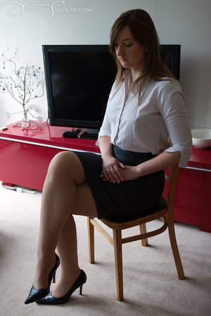 Nasty chick in a white blouse and checke - XXX Dessert - Picture 5