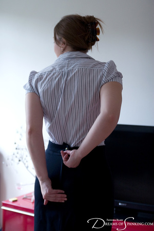 Nasty chick in a white blouse and checke - XXX Dessert - Picture 9