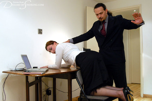 Big boss gets horny when spanking his gi - XXX Dessert - Picture 3