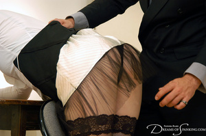 Big boss gets horny when spanking his gi - XXX Dessert - Picture 5