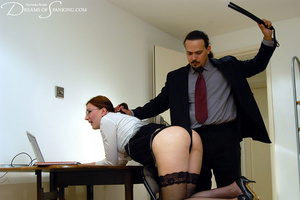 Big boss gets horny when spanking his gi - XXX Dessert - Picture 9