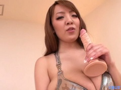 Long-haired red Asian bitch with huge melons in a - XXXonXXX - Pic 6