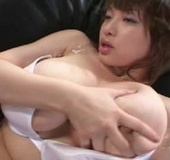 Sexy Asian bitch with big boobs gets them grabbed…