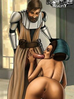 Slutty toon Amidala spreads her legs for - Cartoon Sex - Picture 1