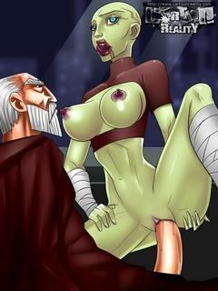 Horny Obi-Wan screws is boner into alien - Cartoon Sex - Picture 1