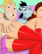 Cool bdsm porn cartoon with slutty Kim Possible participation in dirty