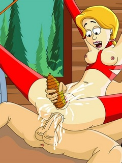 Blonde ponytailed bitch gets her cunt - BDSM Art Collection - Pic 1