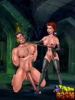 Toon Anastasia adores dominating her - BDSM Art Collection - Pic 1
