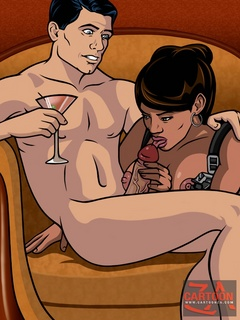 Secret agent Sterling Archer loves to relax with hot - Picture 1