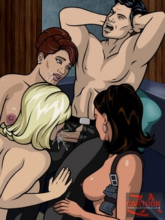 Secret agent Sterling Archer loves to relax with hot - Picture 2