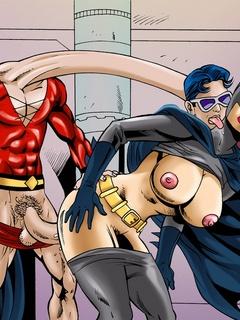 Lustful bitch Batgirl gets her dirty cooch slammed by - Picture 3