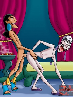Dirty Yzma from The Emperor's New School gets pounded - Picture 1
