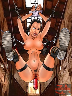 Lustful bitch Lara Croft gets her love holes - Cartoon Sex - Picture 3