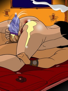 Awesome drawn porn scenes with hot Hawaiian - Cartoon Sex - Picture 3