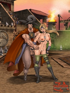 Magnificent babes from Mortal Kombat gets - Cartoon Sex - Picture 1