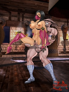 Magnificent babes from Mortal Kombat gets - Cartoon Sex - Picture 2