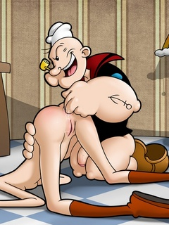 Nasty whore Olive allows Popeye fingering her - Cartoon Sex - Picture 3