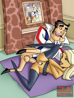 Blonde hottie from The Replacements gets her - Cartoon Sex - Picture 1