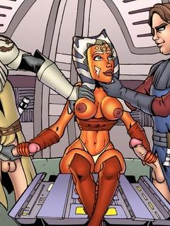 Nasty alien bitch from Star Wars Ahsoka Tano - Cartoon Sex - Picture 1