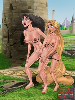 Slutty chick Rapunzel swallows thick meat and - Cartoon Sex - Picture 2