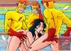 Nasty Teen Titans get banged filthily in hot porn parody comics