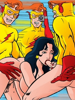 Nasty Teen Titans get banged filthily in hot - Cartoon Sex - Picture 1