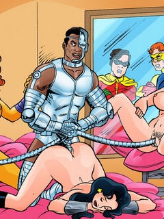 Nasty Teen Titans get banged filthily in hot - Cartoon Sex - Picture 2