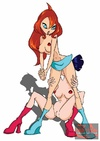 Hot chicks from Winx Club are bi as they fuck with…