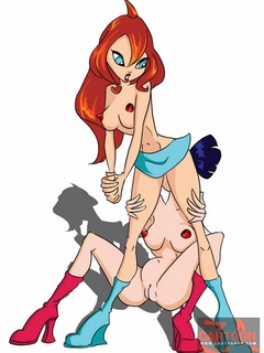 Hot chicks from Winx Club are bi as they fuck - Cartoon Sex - Picture 1