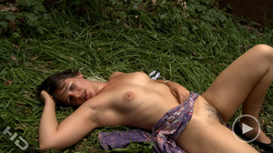 Nasty brunette babe screaming when drilling her cunt with a vibrator - XXXonXXX - Pic 5